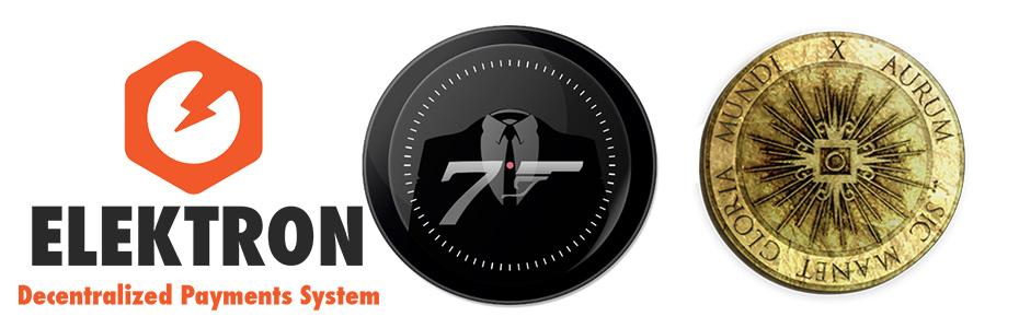 Xaurum coin, 007 coin et Elektron coin