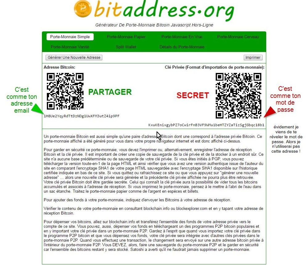 Ton adresse bitcoin en une image