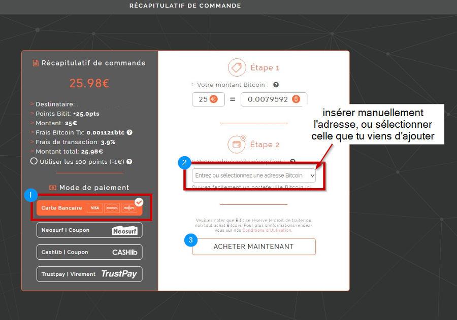 Vérifier paiement et adresse bitcoin